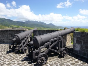 Photo by Jamie Bartosch/Suburban TravelingMom Cannons line the top of Brimstone Hill Fortress National Park in St. Kitts
