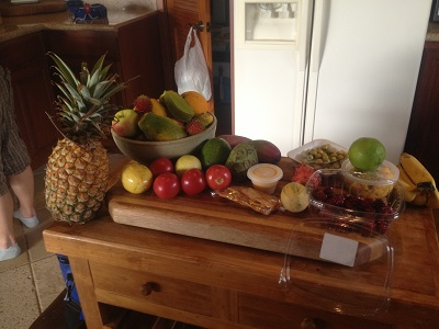 Fresh, local produce at our house in Kona, HI. Photo credit: Dana Zucker / Triathlon TravelingMom