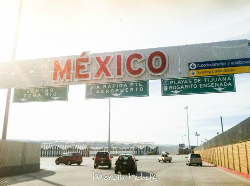 Traveling wake up call at the mexican border crossing traveling mom
