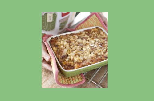 Goat Cheese, Pear, and Proscuitto Strata Recipe