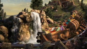 The Seven Dwarfs Mine Train, Fantasyland's newest rolloercoaster debuted on May 28, 2014. Photo courtesy of Disney.