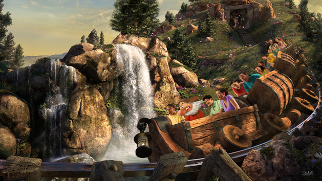 Seven Dwarfs Mine Train at Disney World.