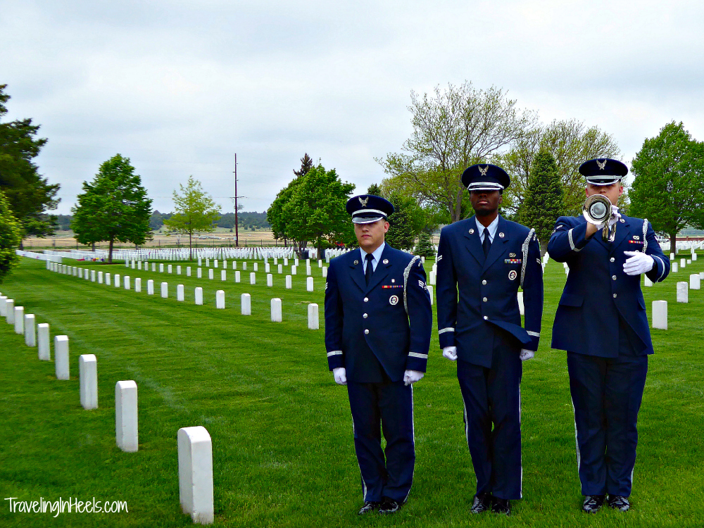 Freedom isn't free. Military taps at Fort McPherson, Nebraksa Photo: Diana Rowe / Traveling Grandmom