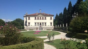 Graceful villa and garden in Vicenza, Italy