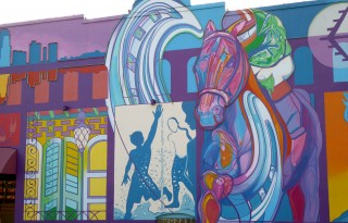 Music and art meld all over Louisiana North. Find this bold mural in Shreveport-Bossier. Photo by Blended Family TMOM Christine Tibbetts