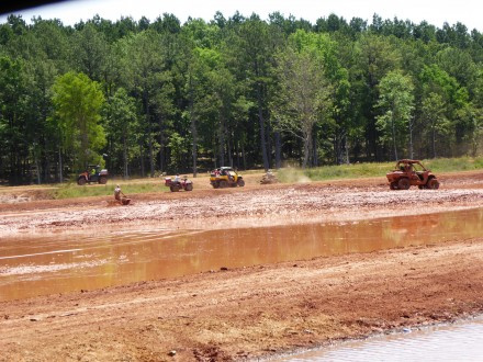All terrain vehicle lovers embracing brand new Muddy Bottoms in Louisiana. Photo by BlendedFamily TMOM Christine Tibbetts