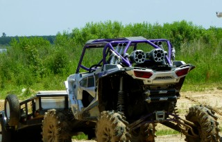 Gawking at ATV styles an acceptable spectator sport at Muddy Bottoms. Photo by BlendedFamily TMOM Christine Tibbetts