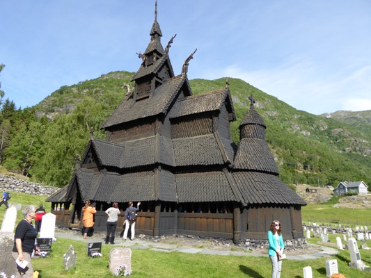 "This stave church was the inspiration for Anna and Elsa's castle in ""Frozen."" Photo credit: Cindy Richards/TravelingMom with Teens"