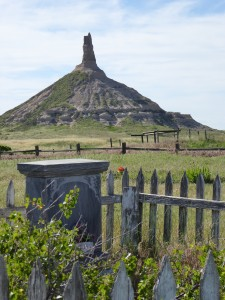 Chimney Rock astonished frontier travelers, and families today too. Photo by Blended Family TMOM Christine Tibbetts