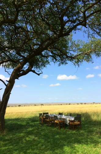 Breakfast on the Mara. Photo credit: Lorraine Robertson / Marathon TMOM