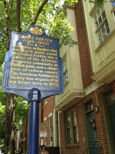 James Forten's house is in a pretty and walkable neighborhood of 18th and 19th century houses.