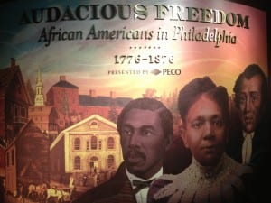 The African American Museum has a permanent exhibit on antebellum history in Philadelphia. (Entrance fee)