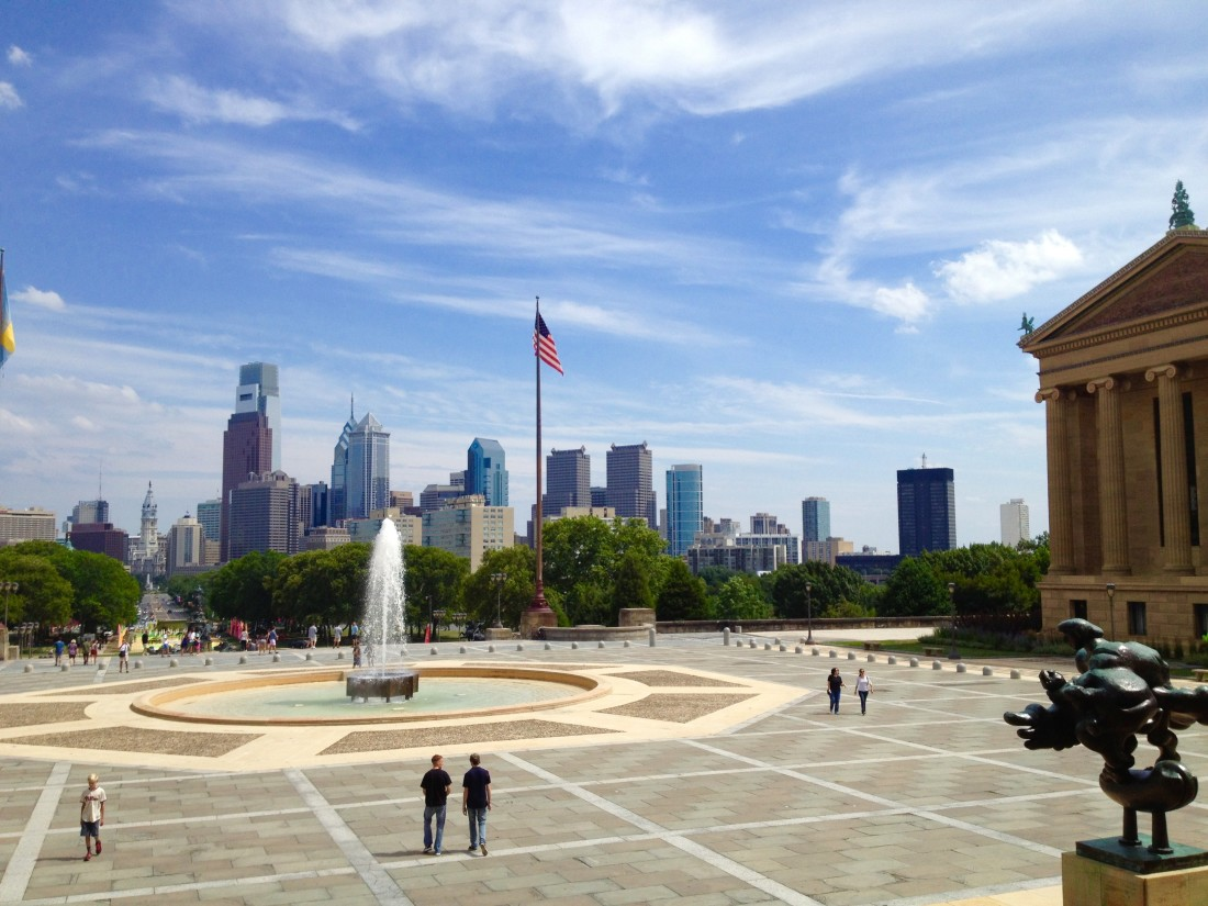 A great view of the Philadelphia skyline - for free