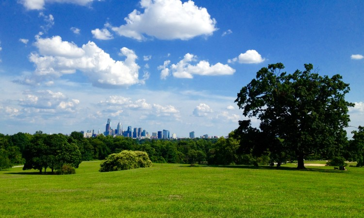 You can see the Philadelphia skyline for free