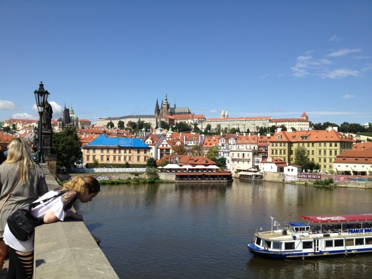 View from Charles Bridge in Prague