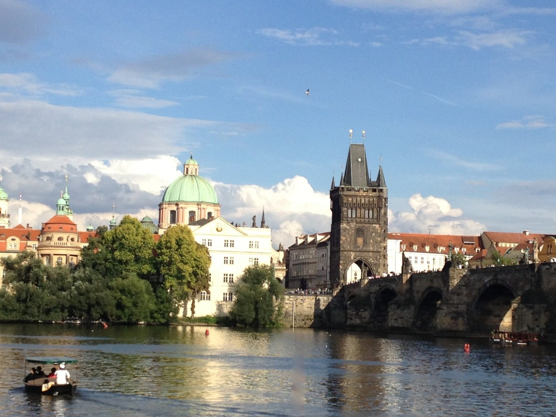 Famous Charles Bridge in Prague