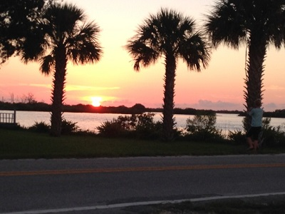 The sunset from Pecks makes it worth the trip (dinner is a nice bonus!). Photo credit: Scotty Reiss / Driving TravelingMom