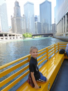 Photo by Jamie Bartosch/Suburban TravelingMom A water taxi is a cheap and scenic way to get around downtown Chicago.