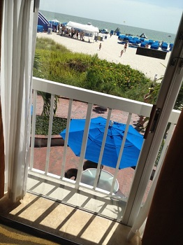 The view from our room at TradeWinds Island Grand. Photo credit: Scotty Reiss / Driving TravelingMom