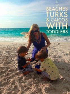 toddlers playing in the sand at Beaches Resorts Turks & Caicos