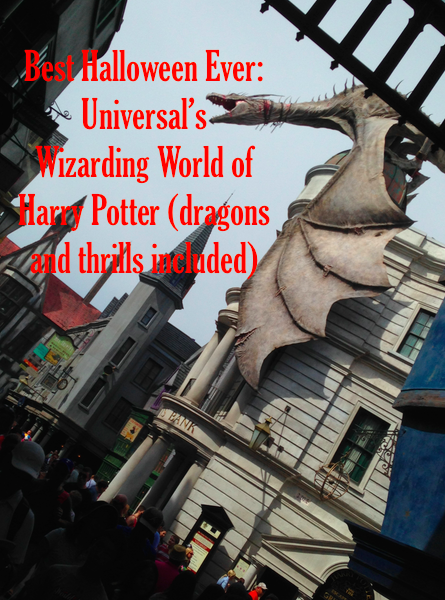 The dragon over Diagon Alley; about every half hour it comes to life and breathes a burst of fire (Photo: Scotty Reiss via Panasonic Lumix)