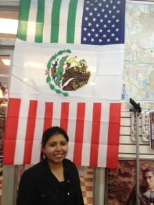 Combined American and Mexican flag (photo Sarah Ricks)