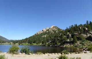 Estes Park scenic highway #7 complements the bustling downtown. Photo by Blended Family TMOM Christine Tibbetts