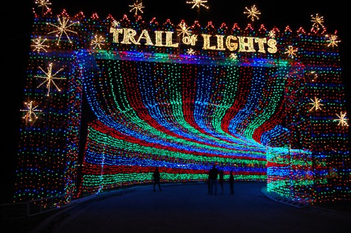 The Trail of Lights in Austin is one places to see Christmas Lights in Texas.