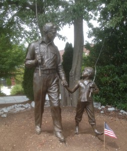 Opie and Andy among the Mount Airy icons. Photo by GW Tibbetts