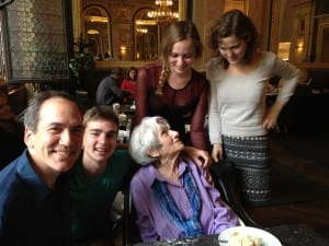 An emotional meeting at a gorgeous coffee house in Budapest. (Photo Sarah Ricks, Philadelphia Traveling Mom)