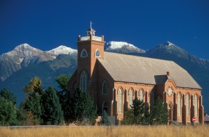 St. Ignatius Mission. Credit Montana Office of Tourism