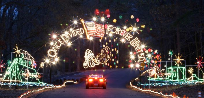 See 100 Miles Of Lights In Eight Cities In Virginia.