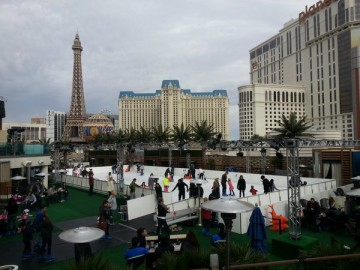 Ice Skating at the Cosmopolitan. Photo credit: Gwen Kleist, Healthy TravelingMom.