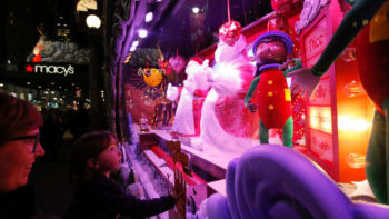 Macy's New York Christmas window.