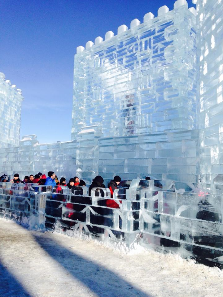 The Ice Palace at Carnaval de Quebec.