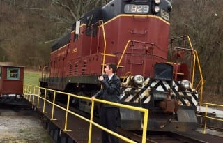 Watch a roundtable turn the Tennessee Valey Railroad engine. Photo by Christine Tibbetts, Blended Family TravelingMom