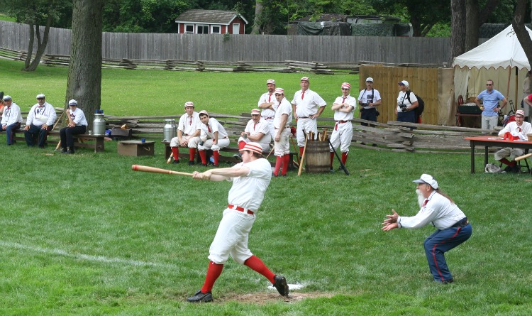 Vintage Baseball Game Played at the Greenfield Village. Photo by Mary Moore / Retro TravelingMom