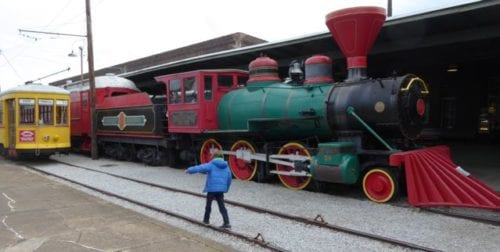 The Chattanooga Choo Choo invites play, and the Tennessee Valley Railroad provides rides. Photo by Christine Tibbetts, Blended Family TravelingMom