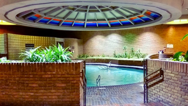 The Pool at the Edward Village hotel in Dearborn. Photo by Mary Moore / Retro TravelingMom