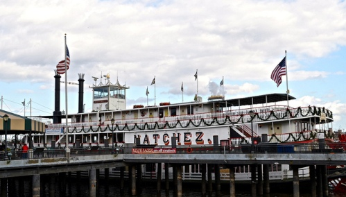 Riding on the Historic Natchez Riverboat Steamboat, New Orleans