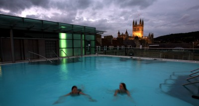 The rooftop pool at Thermae Bath Spa.