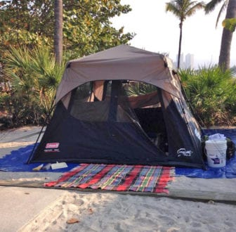 camping at peanut island