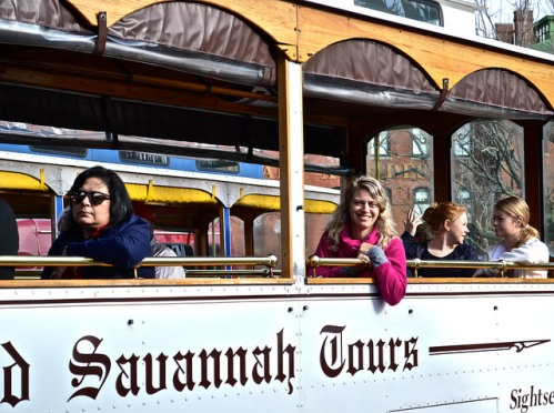 To get the true flavor of Savannah Ga., take a hop-on, hop-off trolley tour