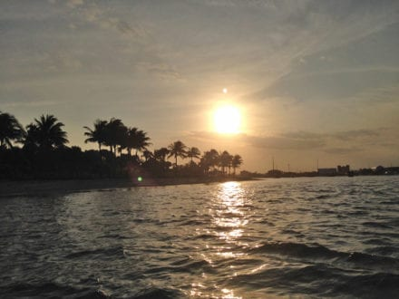 Peanut Island at sunset. Photo Credit: Kelli McDaniel / South Florida TravelingMom