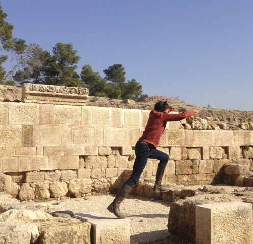 Turning the Roman ruins of Jerash into a playground.