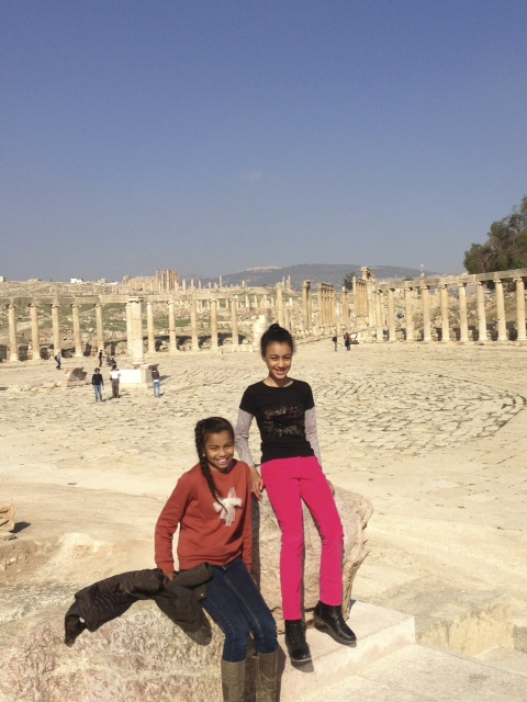 At the Roman ruins in Jerash