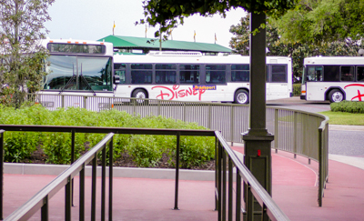 Buses that take visitors from the Coronado Springs Resort into the Disney Parks.