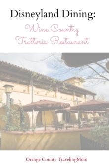 Disneyland Dining Wine Country Trattoria Restaurant