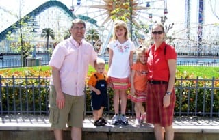 GoodNCrazy family at Disney before they grew up