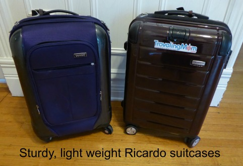 best light weight suitcase, Ricardo luggage
